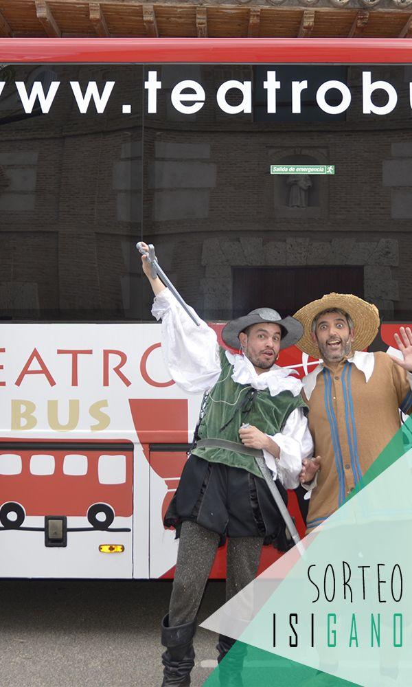 """Teatro Bus quiere premiaros con dos entradas (ENTRADA ADULTO + ENTRADA PARA NIÑO) para nuestra excursión """"CERVANTES Y QUIJOTE""""* valoradas en 85€, el peque lo llevas tú! 🚌 🎭 #sorteo #sorteos #gratis #sorteogratis #sorteosgratis #madrid #teatro #bus #teatrobus"""