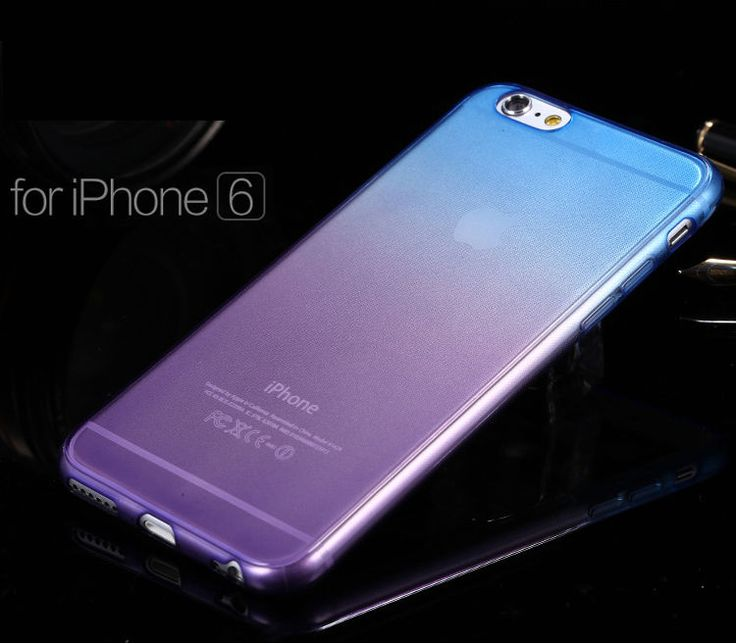 NEW Ombre Silicone/Gel/Rubber Clear Case Cover Skin For iphone 6 6Plus in Cell Phones & Accessories | eBay