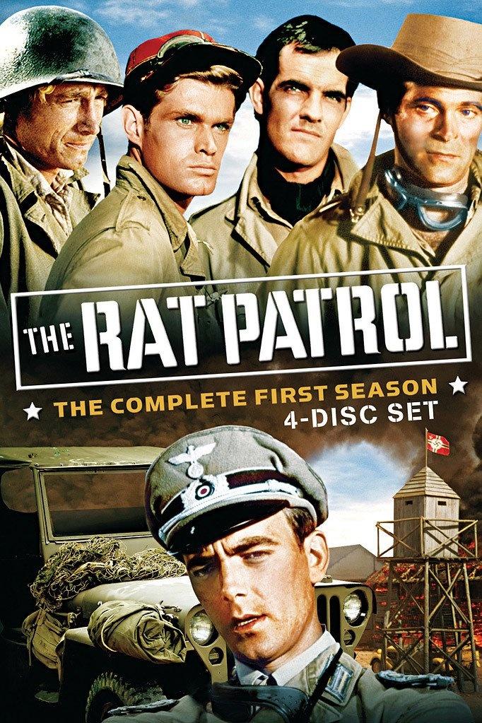 The Rat Patrol 1966-1968 - Christopher George (Sgt. Sam Troy) ... Gary Raymond (Briitish Sgt. Jack Moffett) ... Lawrence Casey (Pvt. Mark T. Hitchcock) ... Justin Tarr (Pvt. Tully Pettigrew) ... Hans Gudegast - now Eric Braeden - (German Capt Hans Dietrich)