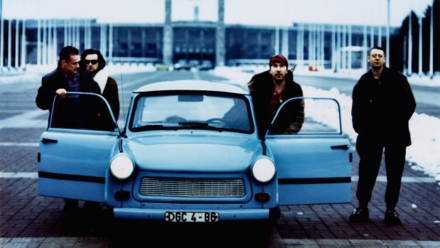 A U2 publicity shot from Berlin at the time of the release of Achtung Baby