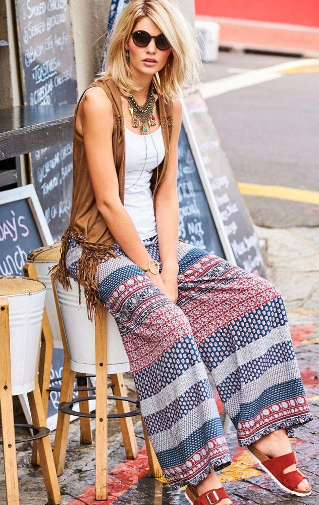 bea5793ae78169 Aniston #weite #Damen #Hose #Sommerhose Neu Gr.42   #Kleidung ...