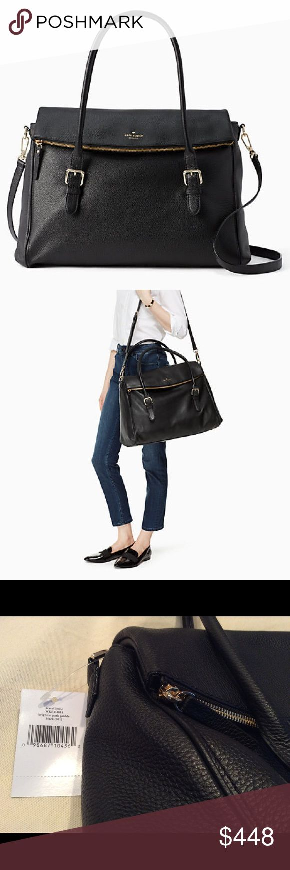 Kate Spade Brighton Park Pebble Travel Leslie Absolutely beautiful Kate Spade Travel Leslie, brand new with tags! This is the perfect size for a weekend getaway! kate spade Bags Travel Bags