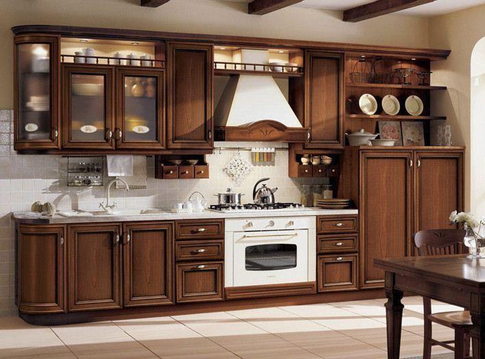 Кухня классика прямая 2 - кухни дерево, изготовление на заказ, недорого в Белой Церкви, Цена