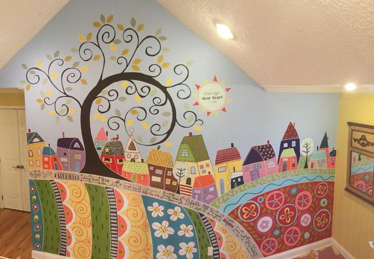 Panorama of the finished mural. JP