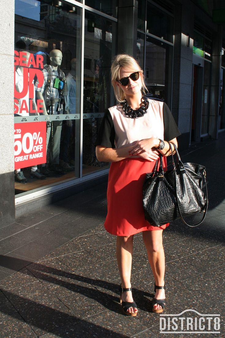 Karine. District - BONDI JUNCTION, Sydney. Dress - Zara http://district8.com/store/zara Jewellery - Topshop http://district8.com/store/topshop Watch - Breitling, Glasses - Gleeb Marcus, Shoes - Sportsgirl http://district8.com/store/sportsgirl Bag - Topshop http://district8.com/store/topshop #Fashion #Street #Style #Color