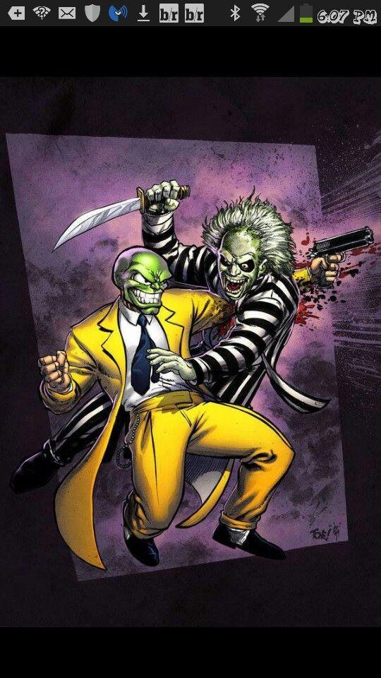 Battle of the clowns... mask vs beattle juice...