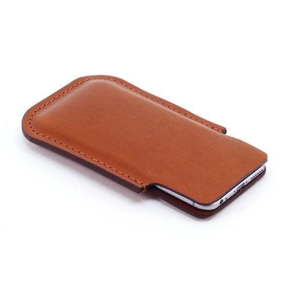 leather iphone 6 compact belt holster with integral