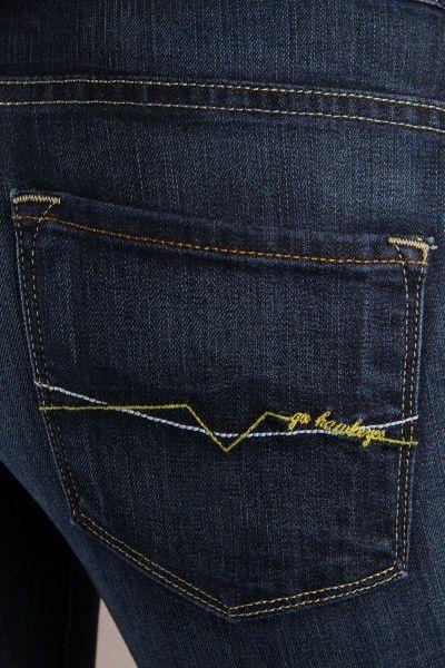 OCJ Apparel | Premium Collegiate Denim | Iowa Hawkeyes Skinny Jeans ZigZag in Deep Indigo | www.ocjapparel.com