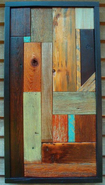 "Reclaimed Barn Wood ""Spot of Blue"""