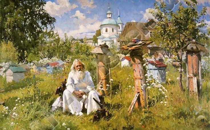 А. В. Маковский «На пасеке» 1916