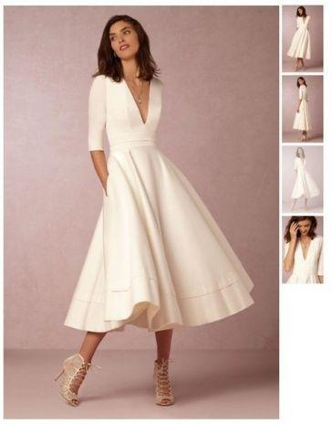 White Dresses Tea Length