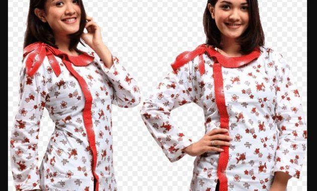 Model Baju Batik Kantor Lengan Panjang Untuk Wanita Kancing