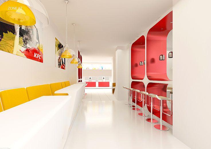 KFC: Корпоративный брендинг, Товарный брендинг, Фирменный стиль, Брендбук, Дизайн упаковки и дизайн этикетки, Полиграфия, Дизайн интерьера