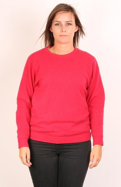 Lyle&Scott Womens M Jumper Crew Neck Red Sweater Lambswool - RetrospectClothes