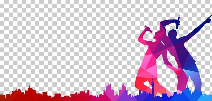 Singing Music Silhouette Poster Png City Computer Wallpaper Free Stock Png Magenta Man Silhouette Music Silhouette Music Wallpaper Computer Wallpaper