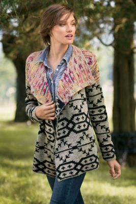 Calais Cardi - Geometric Cardigan, Tribal Cardigan | Soft Surroundings