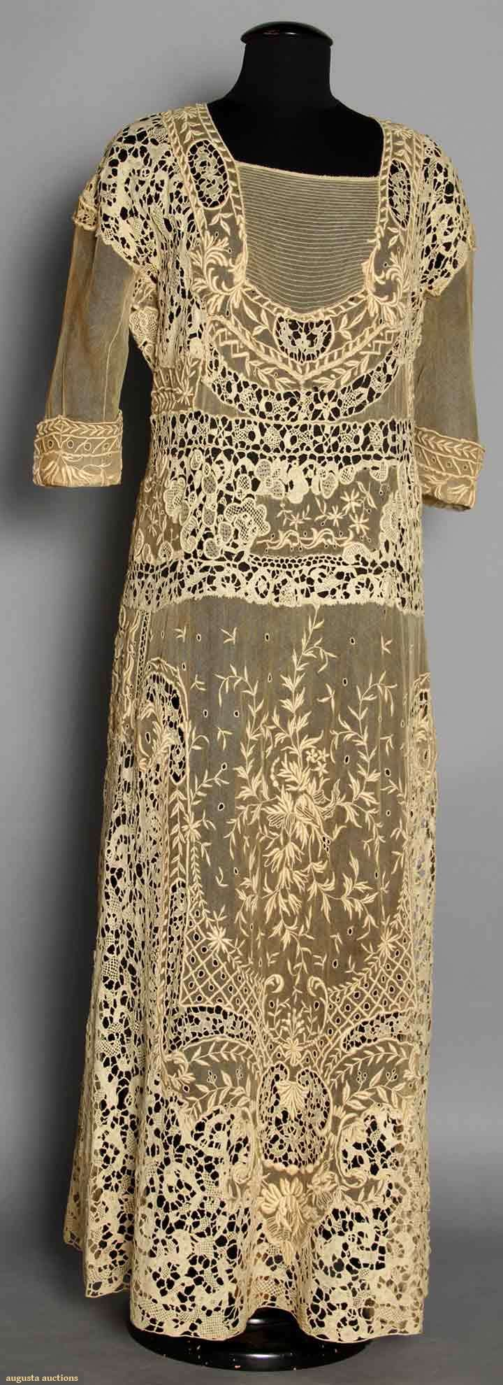 Lace Tea Gown, C. 1919, Augusta Auctions, MAY 13th & 14th, 2014, Lot 84