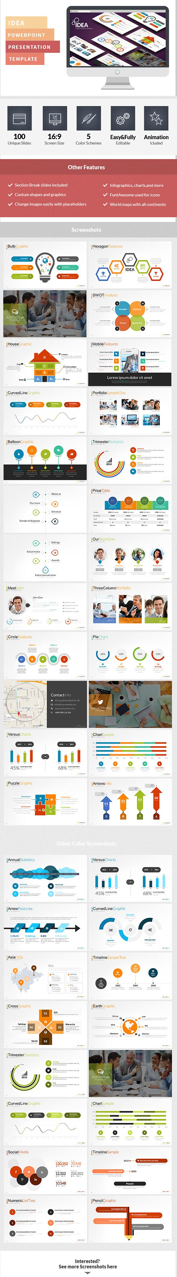 Idea Flat PowerPoint Presentation Template (PowerPoint Templates)