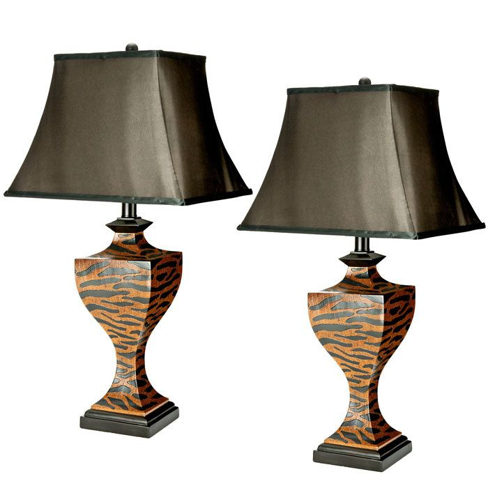 Safari Home Decor | Safavieh Sahara Safari Lamps - Set of 2