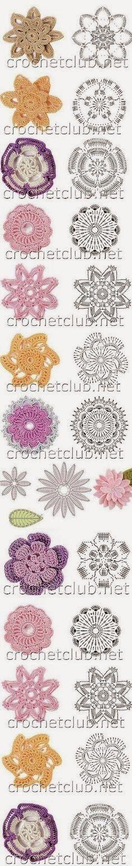 Flores en Crochet Varios Patrones Paso a Paso   Patrones Crochet, Manualidades y Reciclado