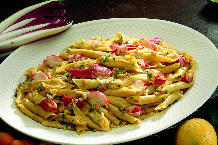 Garganelli with lobster, vegetables and lemon - Garganelli con astice, verdure e limone - La Cucina Italiana: ricette, news, chef, storie in cucina