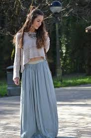 Resultado de imagen para faldas largas hippies