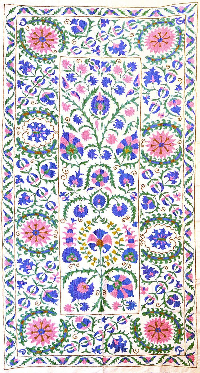 pink and purple suzani