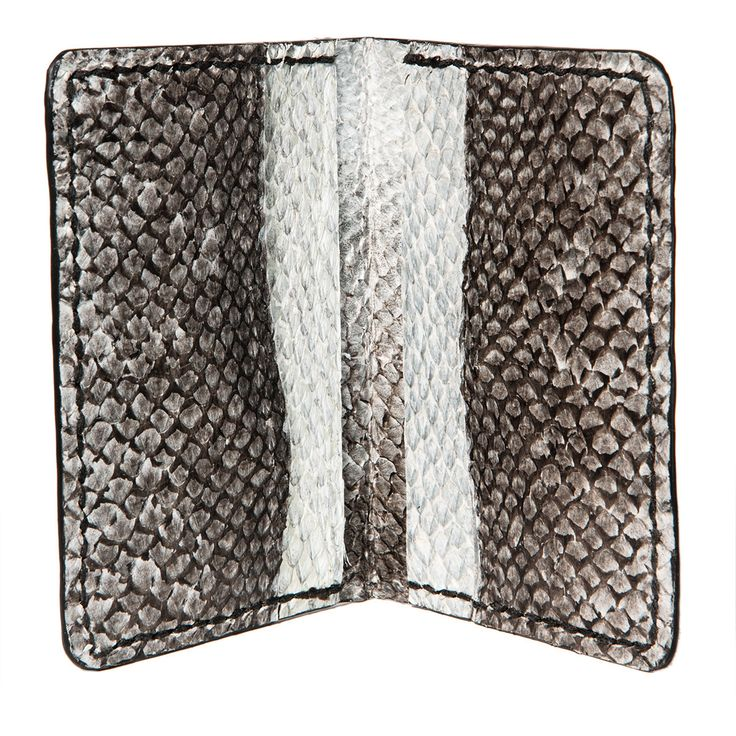 Fish leather wallet- Salmon eco wallet - natural color bifold fish lether credit card walle – Hraun- Art and design  #fishskin #fishleather