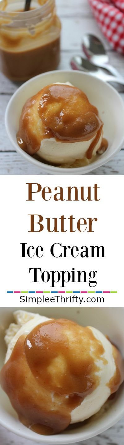 Looking for a different topping for your ice cream? Check out the super simple Peanut Butter Ice Cream Topping!