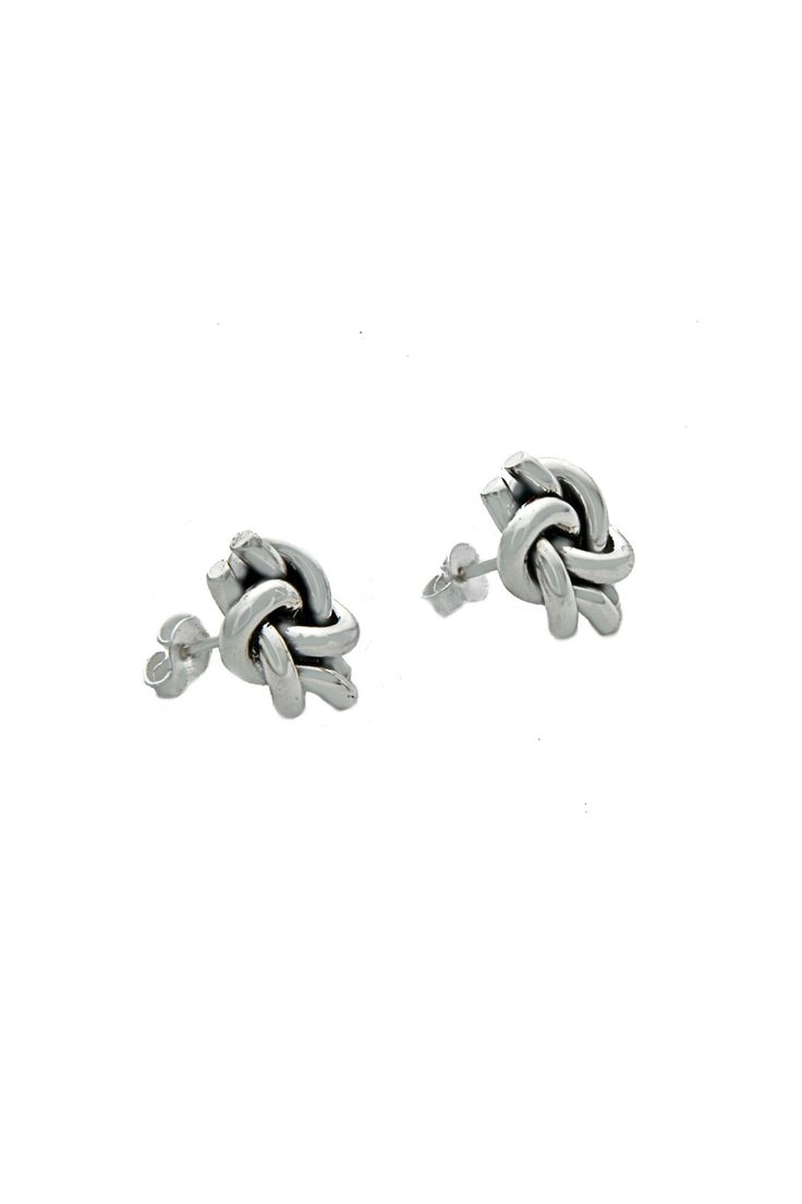 Double Knot Stud Earrings