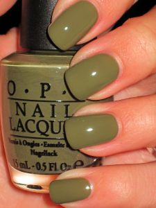 OPI Fall 2011 Uh-Oh Roll Down the Window - i am seriously loving green nails right now. this color screams, fall is here!