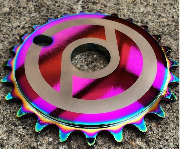 Primo Solid V2 25t BMX Sprocket Chainwheel Jet Fuel Oil Slick - BMX-Guru.com