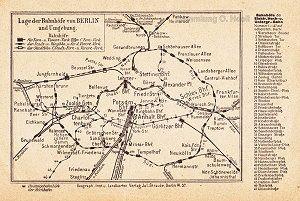 Netzplan der Berliner S-Bahn (1913)