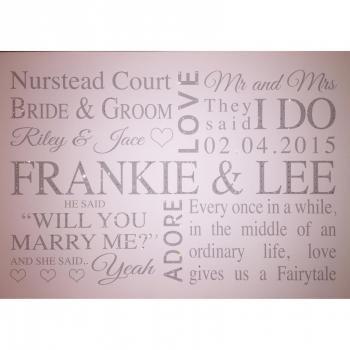 Personalised Wedding Canvas