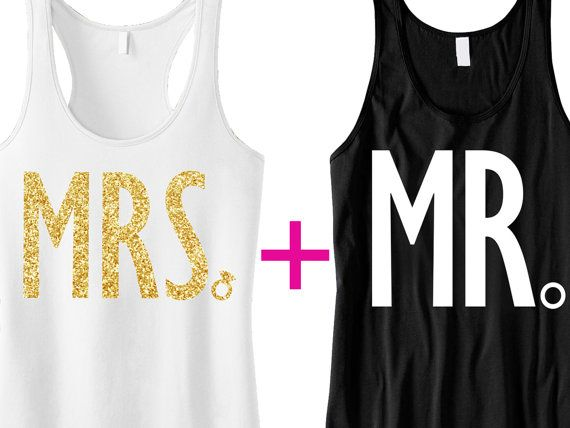 MRS Bride Tank MR Groom Tank Top Special by #NobullWomanApparel! These are so cute for the Honeymoon! :)