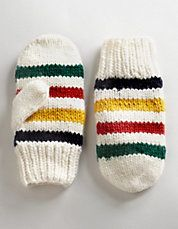 Multi-Coloured Wool Mittens