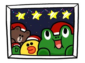 Free Merry Christmas from LINE Friends Line Sticker - http://www.line-stickers.com/merry-christmas-from-line-friends/