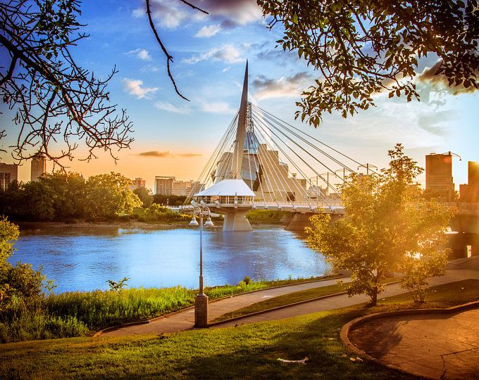 Canadian Museum for Human Rights and the Provencher Bridge