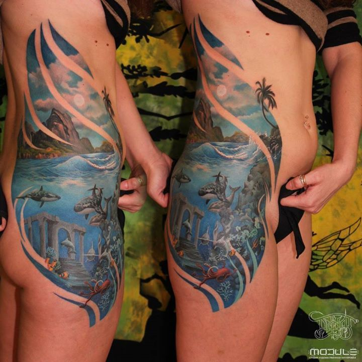 53 best underwater tattoo images on Pinterest | Sea tattoo ...