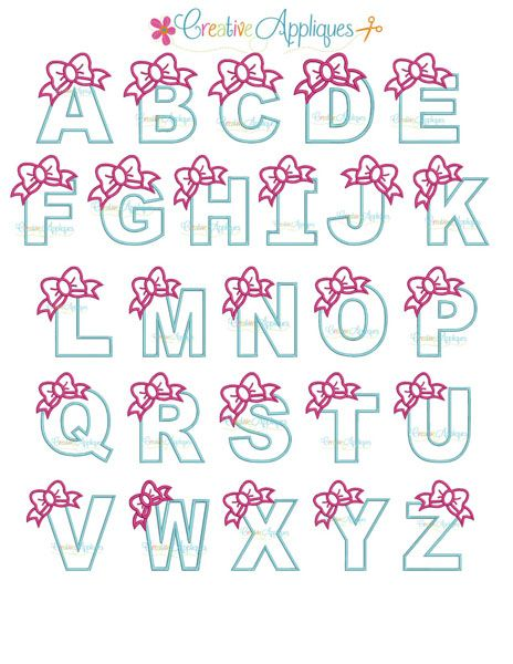 bow Alphabet applique
