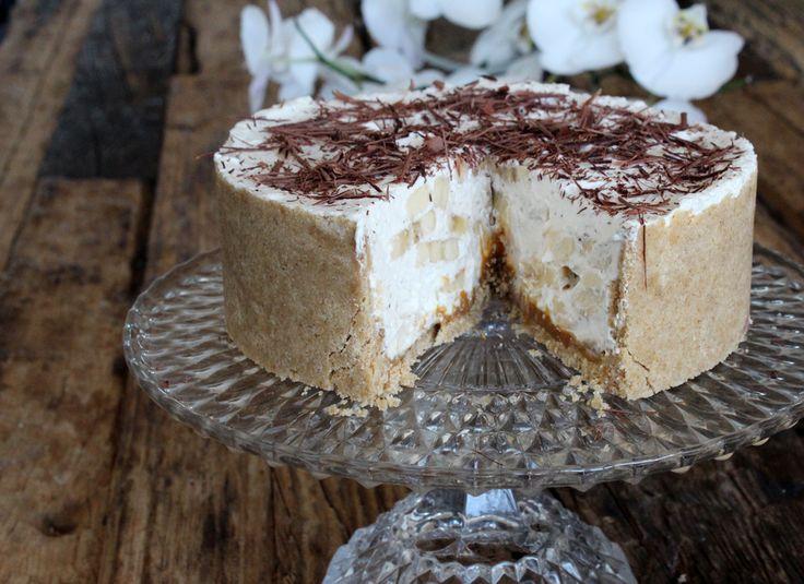 Navnet Banoffee er en sammensætning af banana og toffee – og det er en ret skøn engelsk dessertkage. Bunden…