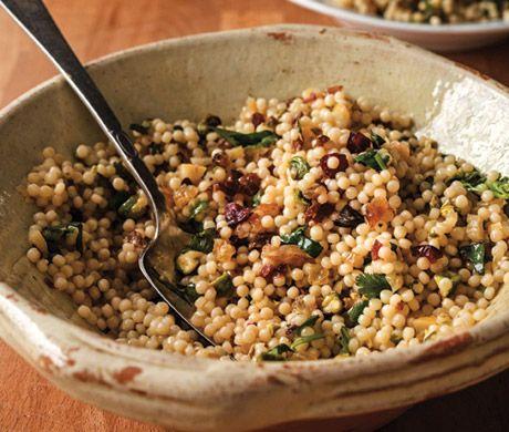 Lemon-Pistachio Israeli Couscous Recipe | Epicurious.com from My Paris Kitchen