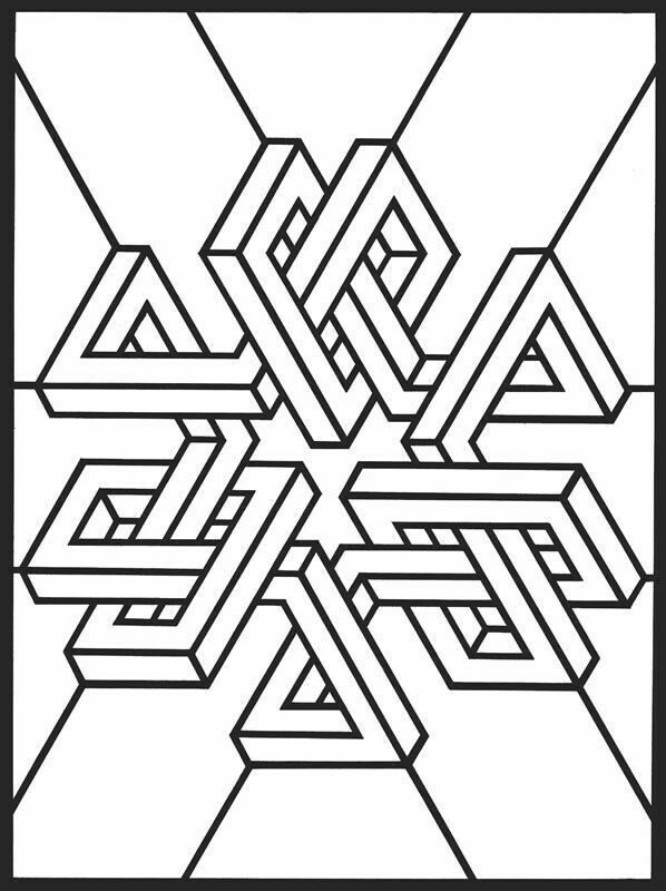 three dimensional shapes coloring pages - photo#40