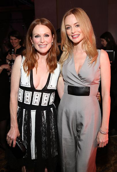 Julianne Moore and Heather Graham attend IFP's 24th Gotham Independent Film Awards at Cipriani, Wall Street on December 1, 2014 in New York City.