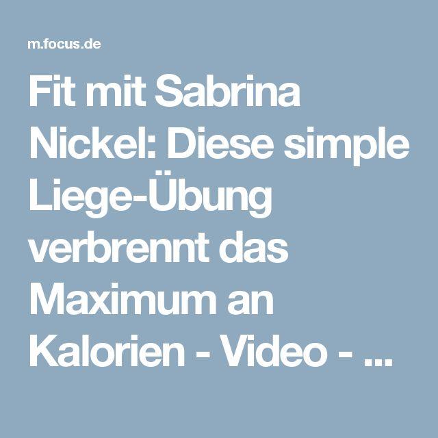 Fit mit Sabrina Nickel: Diese simple Liege-Übung verbrennt das Maximum an Kalorien - Video - FOCUS Online