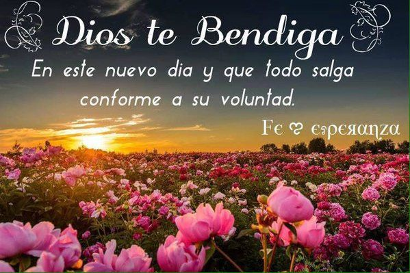 En este nuevo dia... Dios te bendiga...