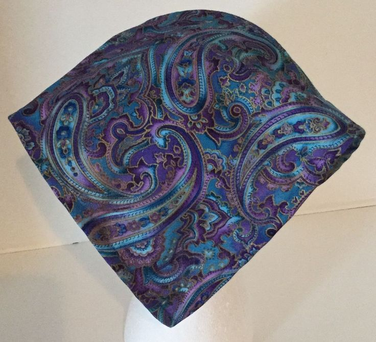 Turquoise Purple Paisley Headband Kerchief Head Scarf Child to Adult Hat    Cap. KerchiefHead ScarfsHair AccessoriesFashion ... 6611a3078dcb