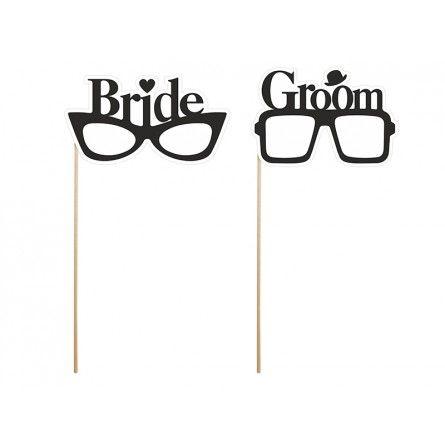 """Photo Booth Props """"Bride & Groom Brillen"""""""