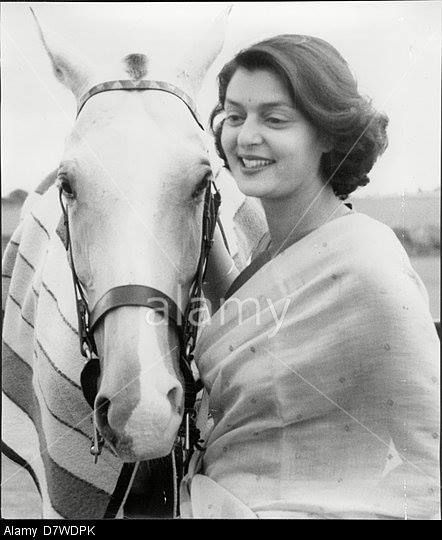 Maharani of Jaipur, Gayatri Devi with Polo pony, 1960. — at RAJASTHAN. By Rohit Sonkiya