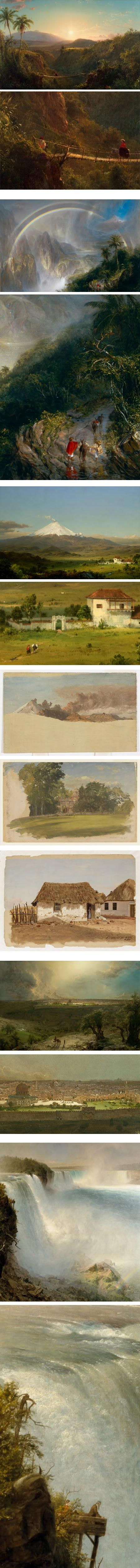 Frederic Edwin Church (his paintings are on the Google Art Project site!)